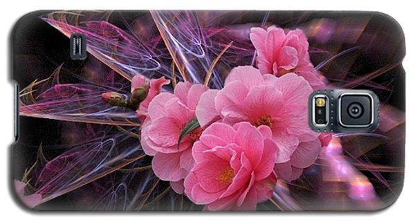 Fractal Meets Camellia  Galaxy S5 Case