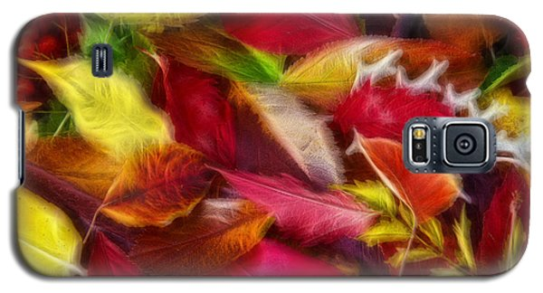 Galaxy S5 Case featuring the photograph Fractalius Leaves by Shane Bechler