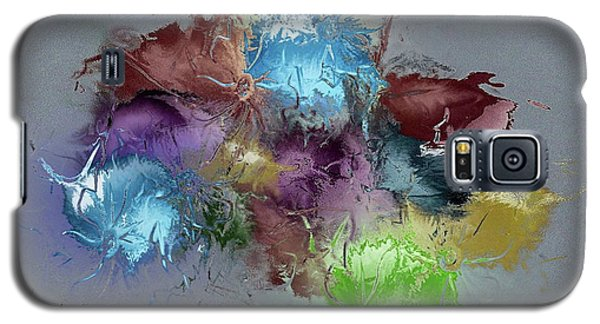 Galaxy S5 Case featuring the digital art Fractured Bouqet 1 Pc by John Krakora