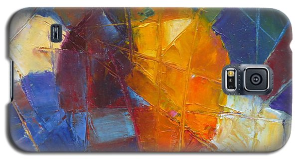 Fractured Orange Galaxy S5 Case