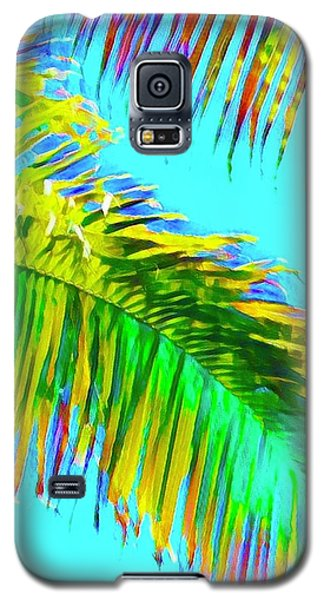 Fragment Of Coconut Palm Psychedelic Galaxy S5 Case