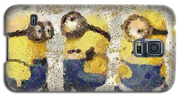 Galaxy S5 Case featuring the painting Fragmented And Still In Awe Congratulations Minions by Catherine Lott