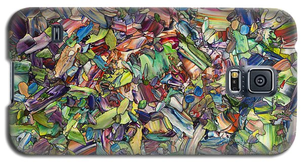 Galaxy S5 Case featuring the painting Fragmented Spring by James W Johnson