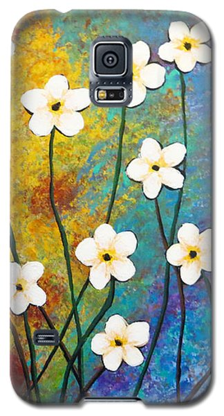 Frangipani Explosion Galaxy S5 Case by Teresa Wing