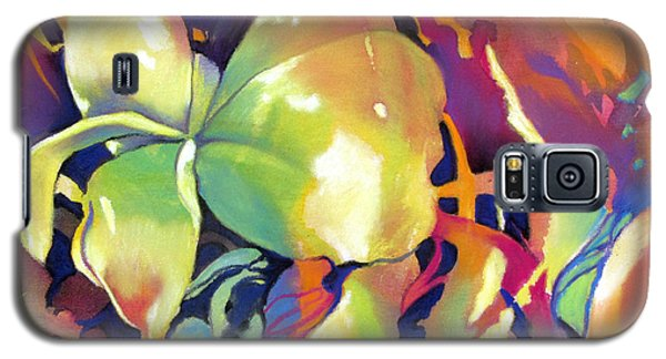 Frangipani Fantasy Galaxy S5 Case by Rae Andrews