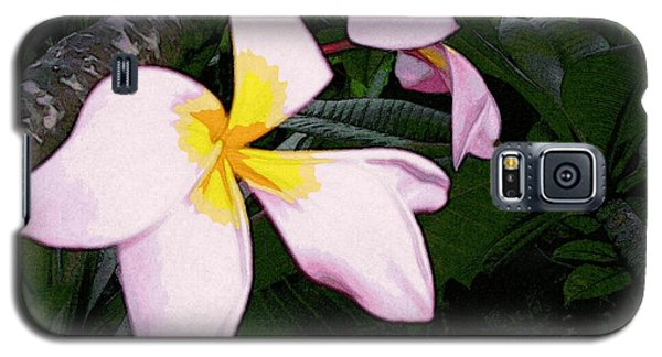Galaxy S5 Case featuring the digital art Frangipani Moment by Winsome Gunning