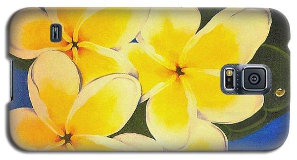 Frangipani With Lady Bug Galaxy S5 Case