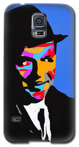Galaxy S5 Case featuring the drawing Frank Feeling Blue by Robert Margetts
