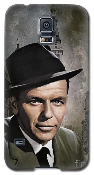 Galaxy S5 Case featuring the painting  Frank Sinatra by Andrzej Szczerski