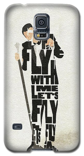 Frank Sinatra Typography Art Galaxy S5 Case