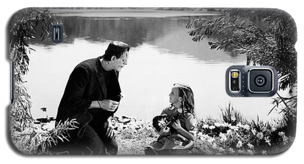 Frankenstein By The Lake With Little Girl Boris Karloff Galaxy S5 Case