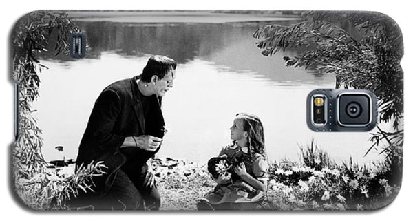 Frankenstein By The Lake With Little Girl Boris Karoff Galaxy S5 Case