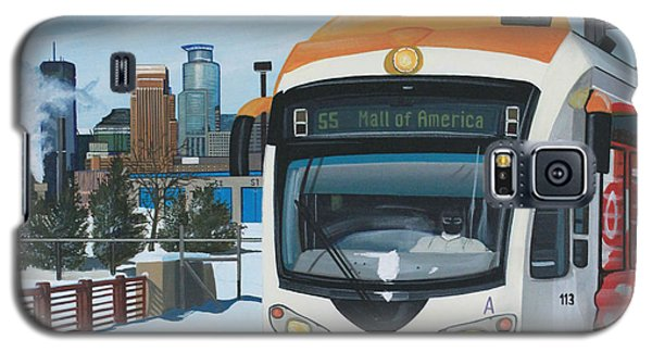 Galaxy S5 Case featuring the painting Franklin Avenue Station by Jude Labuszewski