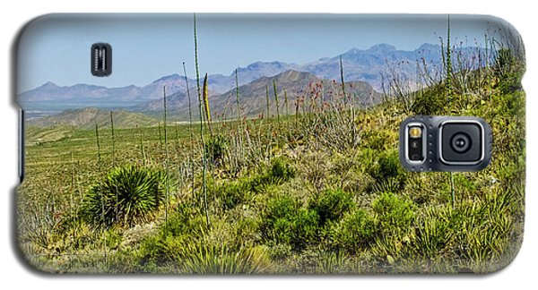 Franklin Mountains State Park Facing North Galaxy S5 Case by Allen Sheffield