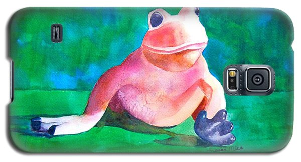 Galaxy S5 Case featuring the painting Freddy The Frog by Sharon Mick