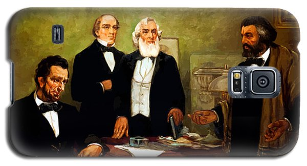 Frederick Douglass Appealing To President Lincoln Galaxy S5 Case by War Is Hell Store