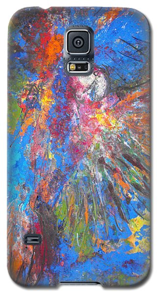 Galaxy S5 Case featuring the painting Free Flight by Koro Arandia