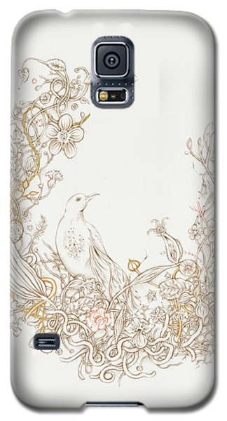 Galaxy S5 Case featuring the drawing Freedom Cage by Karen Robey
