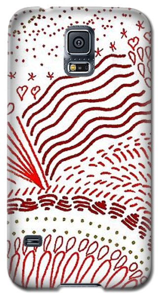 Freedom In Red Galaxy S5 Case