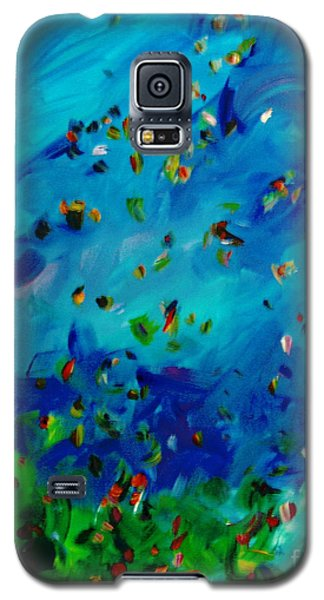 Galaxy S5 Case featuring the painting Freelancing  by Reina Resto