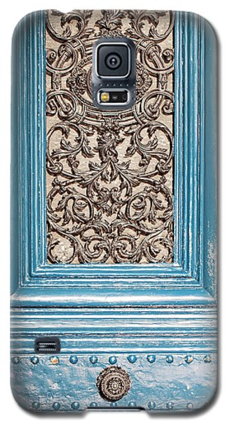French Blue - Paris Door Galaxy S5 Case by Melanie Alexandra Price