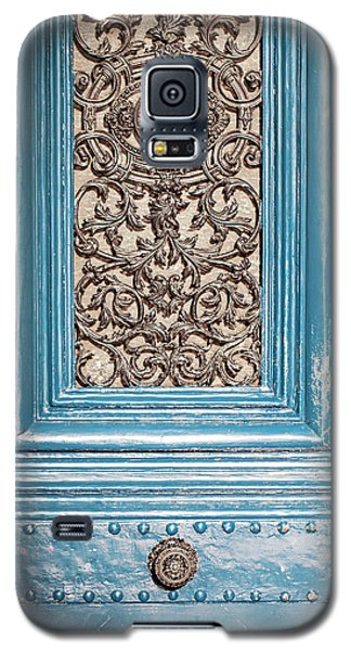 Galaxy S5 Case featuring the photograph French Blue - Paris Door by Melanie Alexandra Price