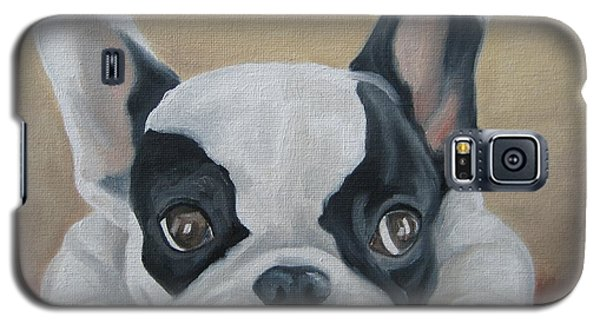 Galaxy S5 Case featuring the painting French Bulldog by Jindra Noewi