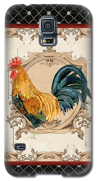 French Country Roosters Quartet 4 Galaxy S5 Case
