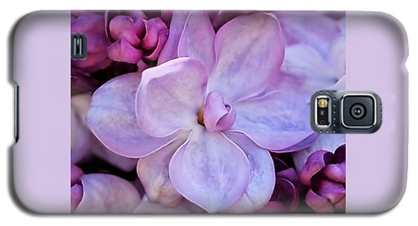 Galaxy S5 Case featuring the photograph French Lilac Flower by Rona Black