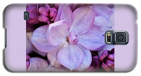 French Lilac Flower Galaxy S5 Case by Rona Black