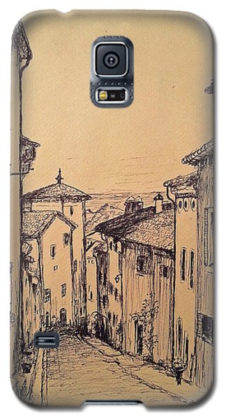 French Little Town Drawing Galaxy S5 Case