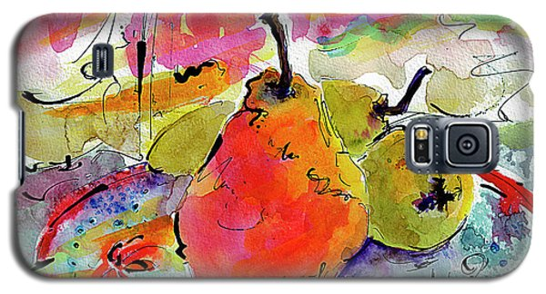 French Pears Watercolor And Ink Whimsical Art Galaxy S5 Case