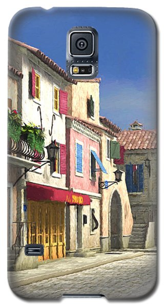 French Village Scene With Cobblestone Street Galaxy S5 Case