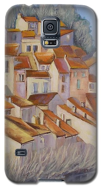 Galaxy S5 Case featuring the painting French Villlage Painting by Chris Hobel