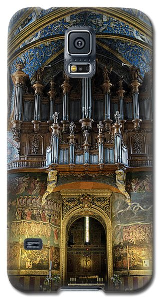 Fresco Of The Last Judgement And Organ In Albi Cathedral Galaxy S5 Case by RicardMN Photography