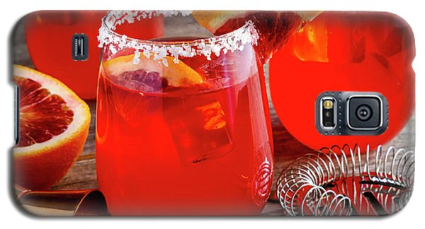 Galaxy S5 Case featuring the photograph Fresh Blood Orange Margaritas by Teri Virbickis
