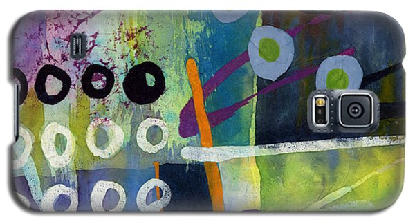 Galaxy S5 Case featuring the painting Fresh Jazz In A Square 2 by Hailey E Herrera