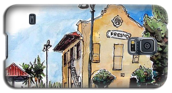 Galaxy S5 Case featuring the painting Old Fresno Depot by Terry Banderas