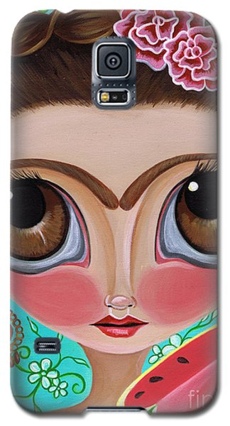 Watermelon Galaxy S5 Case - Frida And The Watermelon by Jaz Higgins