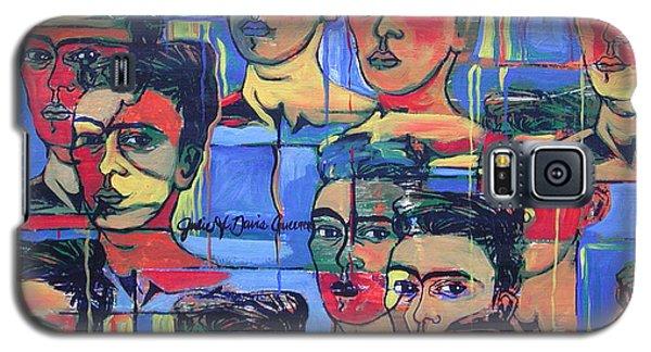Frida Blue And Orange Galaxy S5 Case