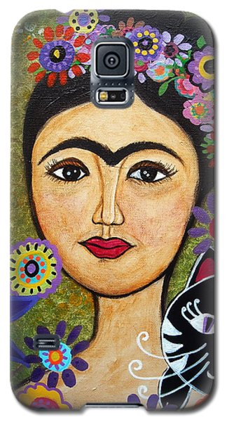 Frida Kahlo And Cat Galaxy S5 Case