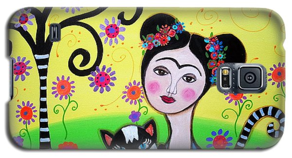 Frida With Her Cat Galaxy S5 Case by Pristine Cartera Turkus