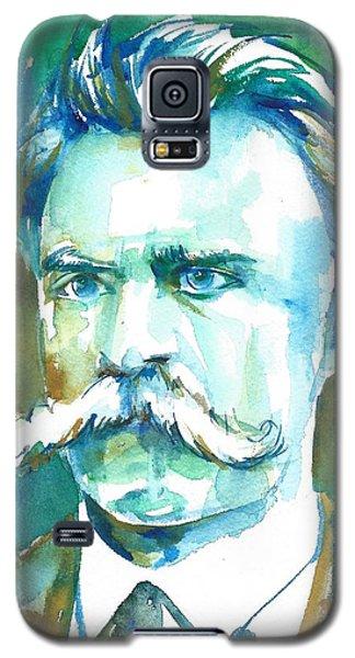 Friedrich Nietzsche Watercolor Portrait.1 Galaxy S5 Case