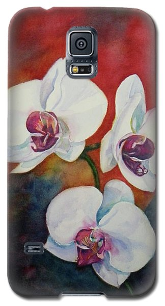 Galaxy S5 Case featuring the painting Friends by Anna Ruzsan
