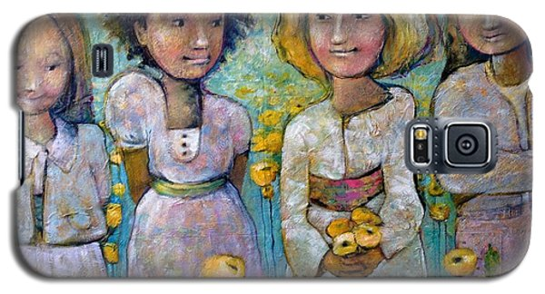 Galaxy S5 Case featuring the painting Friends by Eleatta Diver