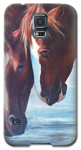 Galaxy S5 Case featuring the painting Friends For Life by Karen Kennedy Chatham