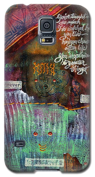 Galaxy S5 Case featuring the mixed media Friends Forever by Angela L Walker