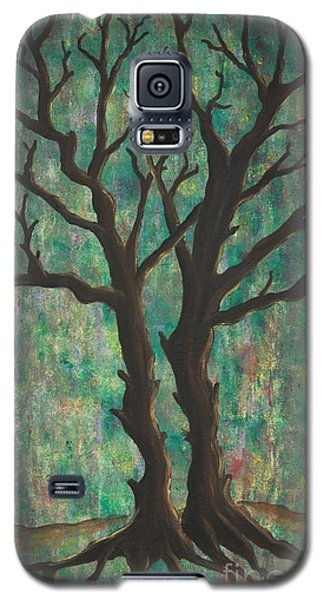Galaxy S5 Case featuring the painting Friends by Jacqueline Athmann