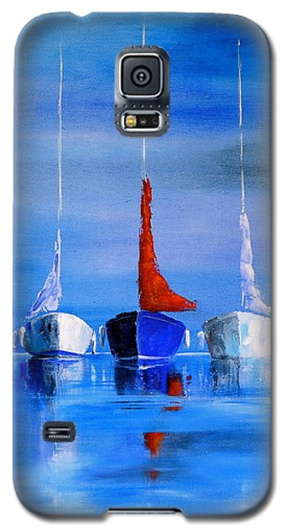Galaxy S5 Case featuring the painting Friends by Jo Appleby