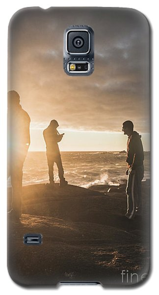 Galaxy S5 Case featuring the photograph Friends On Sunset by Jorgo Photography - Wall Art Gallery